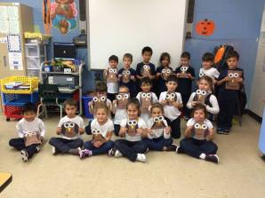 Shape owls! Students chose which shapes they wanted their owl to be.